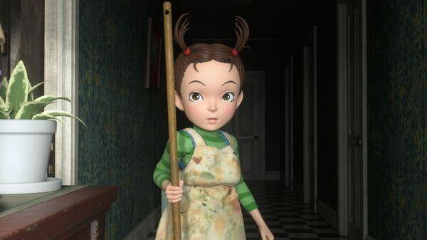 Кадр из мультфильма Ая и ведьма