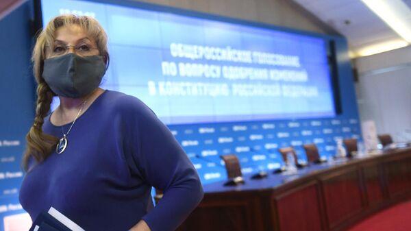 Председатель Центральной избирательной комиссии РФ Элла Памфилова после заседания ЦИК РФ