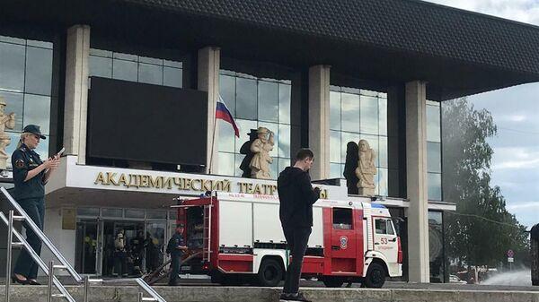 Пожар в драмтеатре во Владимире
