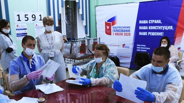 Подсчет голосов по итогам голосования по поправкам в Конституцию РФ