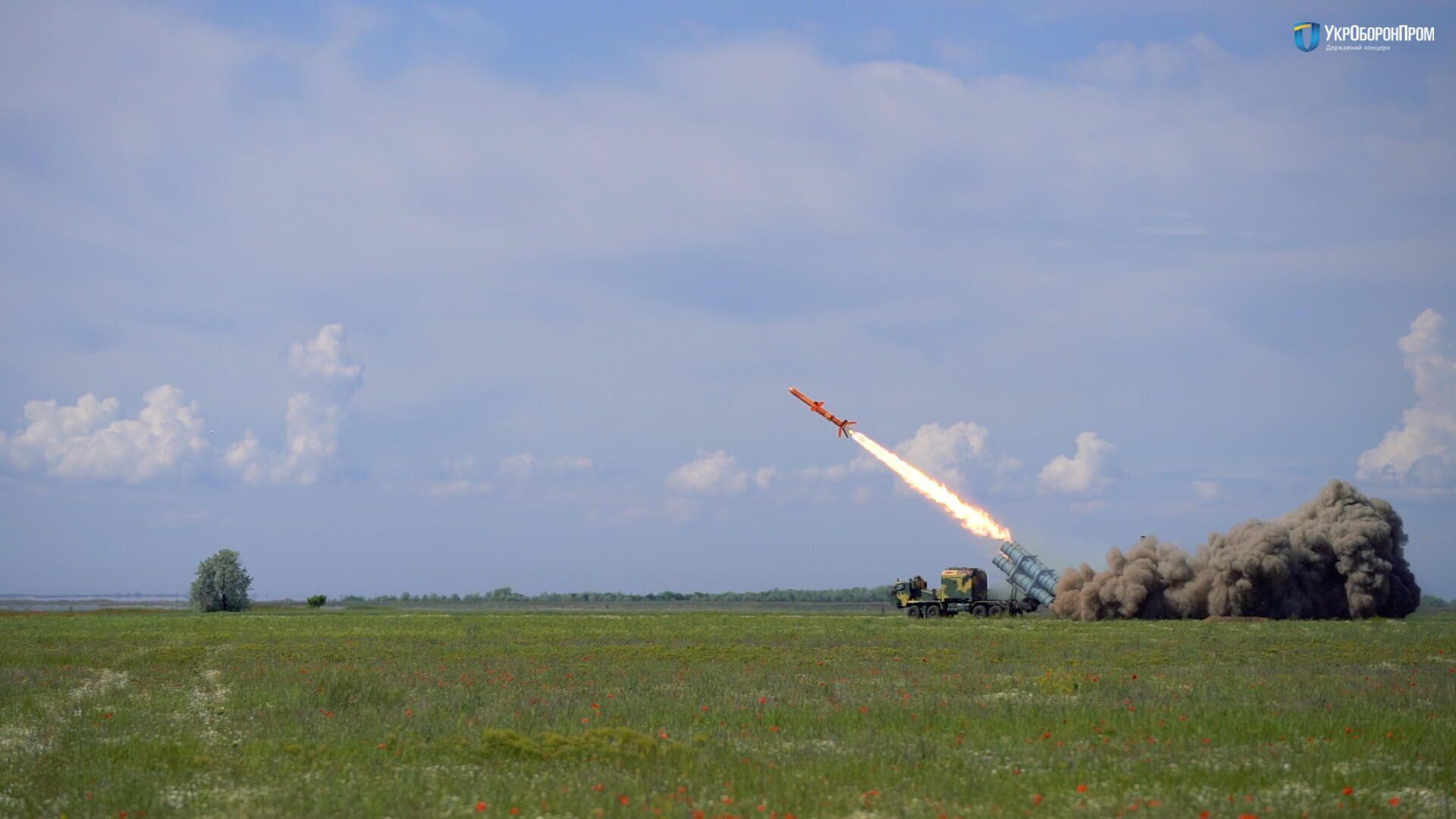 Испытание ракетного комплекса РК-360МЦ Нептун - РИА Новости, 1920, 07.07.2020