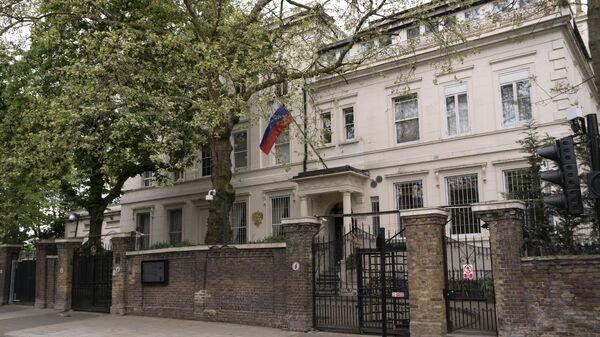 Главное здание посольства России в Великобритании на Kensington Palace Gardens в Лондоне