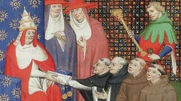 Папа Иннокентий IV отправляет доминиканцев и францисканцев послами к монголам