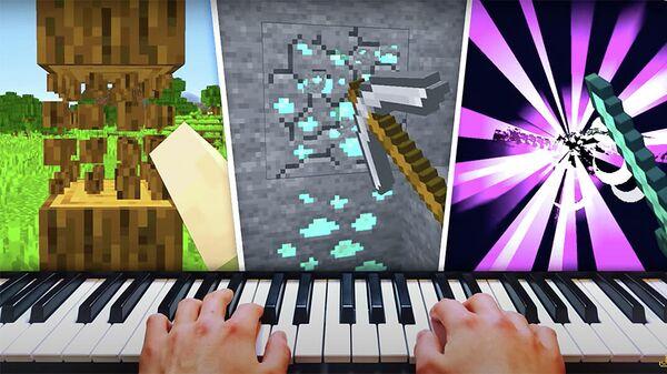 Блогер Jachael123 проходит миссию в Minecraft с помощью синтезатора