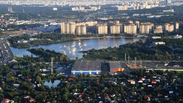 Застройка в районе канала имени Москвы в Долгопрудном