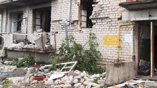 На месте взрыва газовоздушной смеси в жилом доме в поселке Кикнур Кировской области