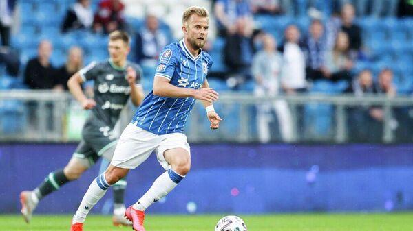 Датский нападающий футбольного клуба Лех Кристиан Гюткьер