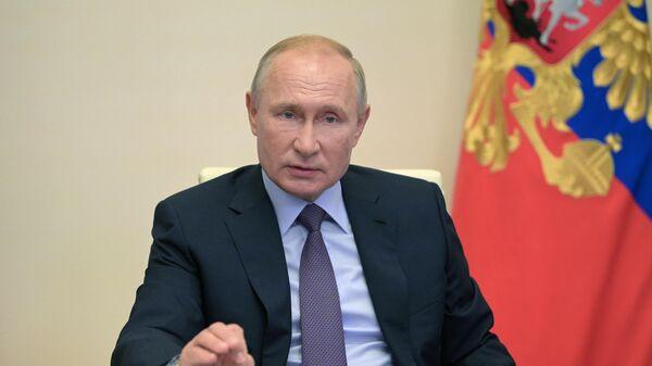 Президент РФ Владимир Путин проводит заседание совета по стратегическому развитию и нацпроектам