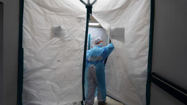 Госпиталь для больных коронавирусом в Хьюстоне