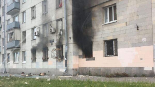 Пожар в Московском районе Санкт-Петербурга