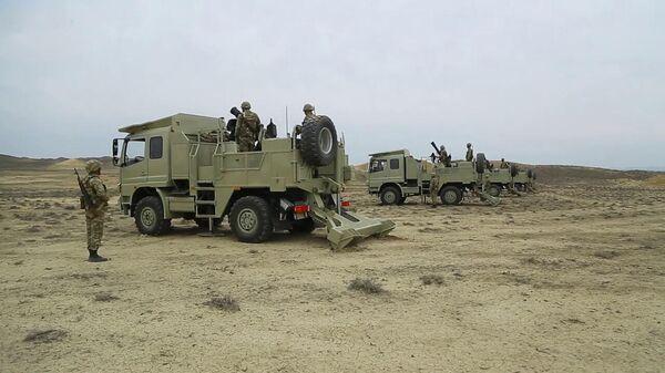 Минометные батареи армии Азербайджана выполняют боевые стрельбы