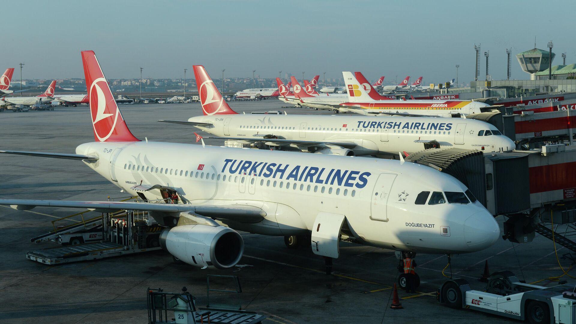 Самолеты авиакомпании Turkish Airlines в Международном аэропорту имени Ататюрка в Стамбуле - РИА Новости, 1920, 21.06.2021