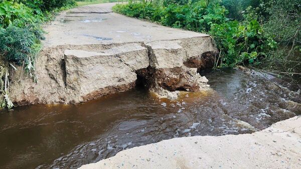 Размытие дороги регионального значения в Можайском городском округе