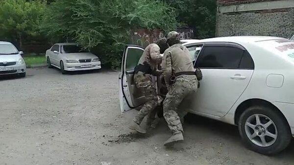 Спецоперация по предотвращению теракта в Хабаровске. Съемка ФСБ РФ