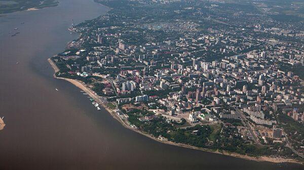 Вид на Хабаровск и реку Амур