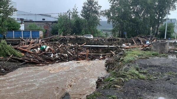 Паводок на территории города Нижние Серги Свердловской области