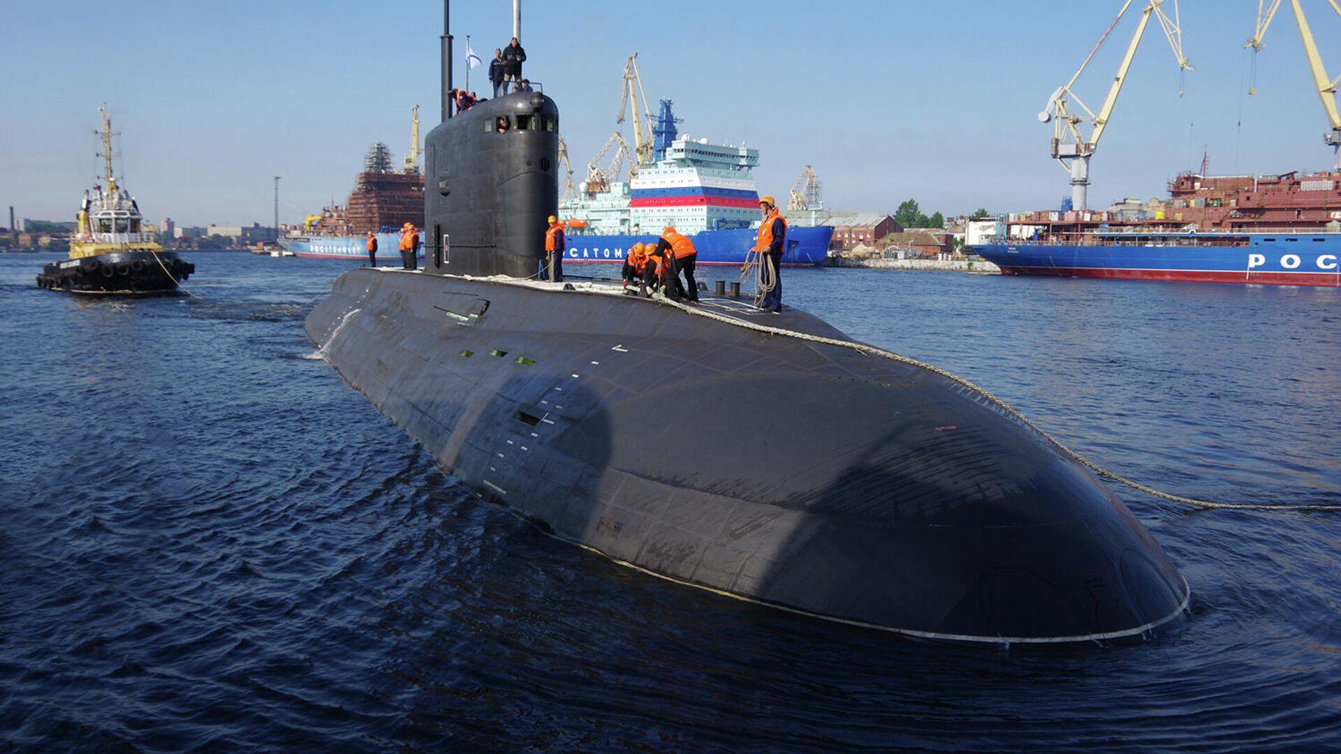 Большая дизель-электрическая подводная лодка Волхов - РИА Новости, 1920, 22.09.2021