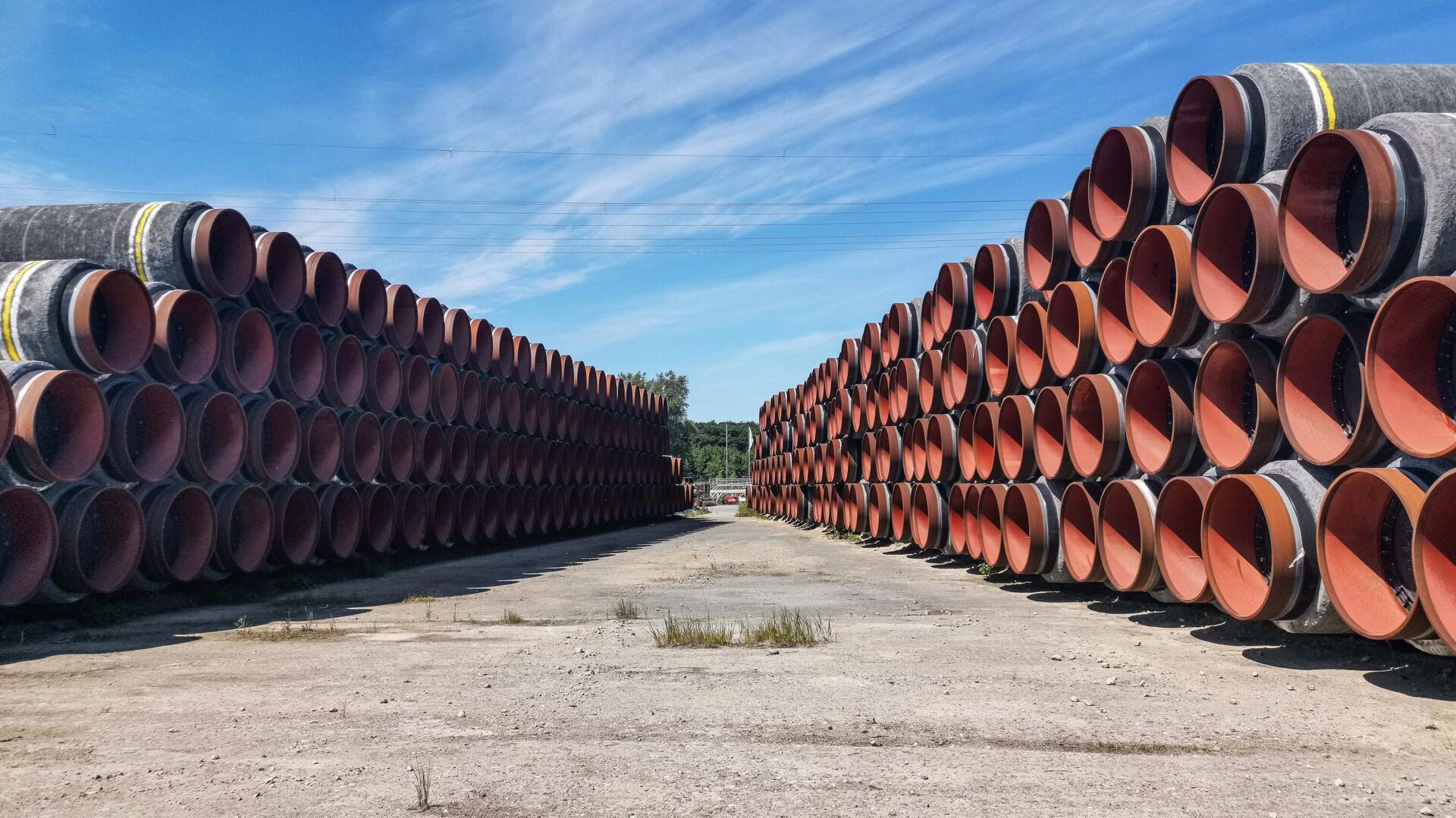 Трубы в немецком порту Мукран на острове Рюген - РИА Новости, 1920, 01.12.2020