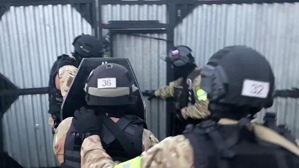Спецоперация ФСБ против Исламского движения Узбекистана. Кадр видео