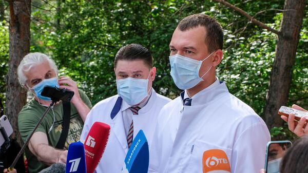 Врио губернатора Хабаровского края М. Дегтярев посетил краевую клиническую больницу