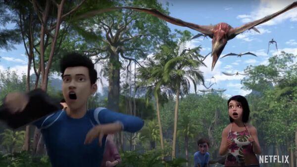 Скриншот анимационного сериала Мир Юрского периода: Меловой лагерь