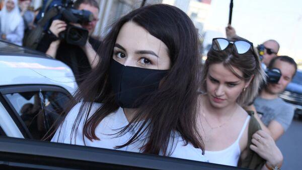 Мария Хачатурян после заседания Бутырского районного суда города Москвы