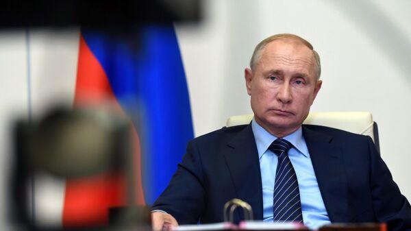 Президент РФ Владимир Путин проводит совещание по ситуации в г. Усолье-Сибирском
