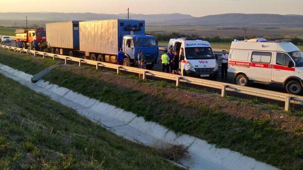 ДТП в Белогорском районе Республики Крым на трассе Таврида