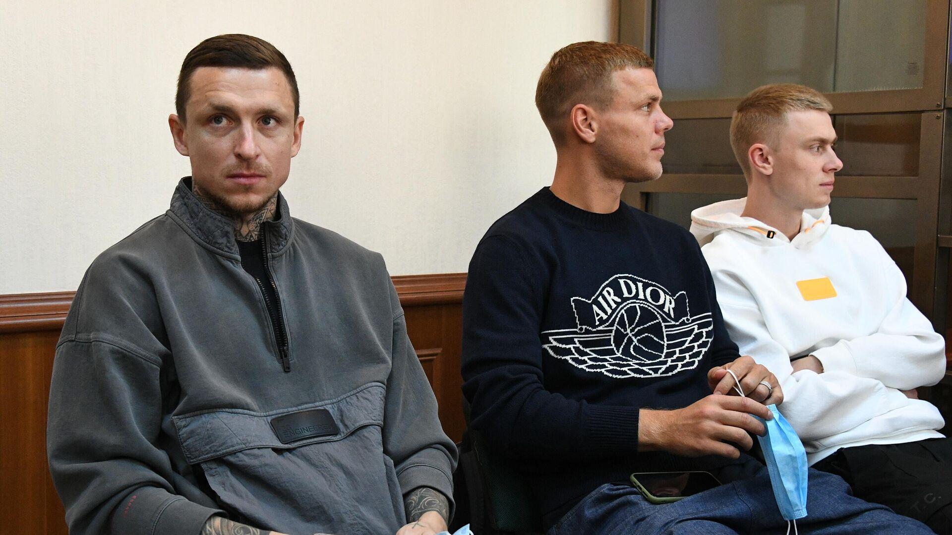 Павел Мамаев, Александр Кокорин и Кирилл Кокорин - РИА Новости, 1920, 08.02.2021