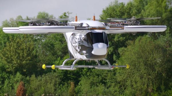 CityAirbus eVTOL во время первого автоматического полета