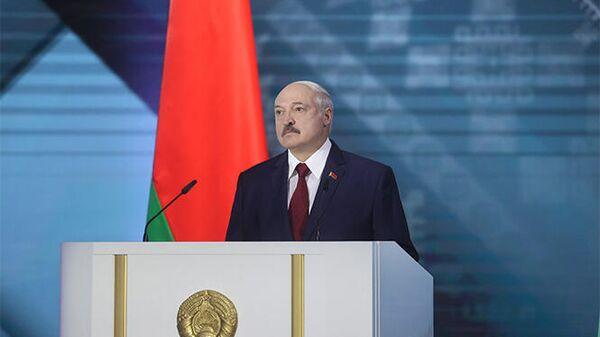 Президент Белоруссии Александр Лукашенко во время ежегодного послания к белорусскому народу и Национальному собранию