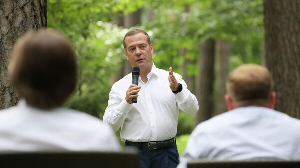 Председатель Единой России Дмитрий Медведев встретился с молодыми лидерами избирательного цикла ЕДГ- 2020