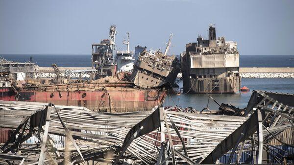 Суда поврежденные в результате взрыва в порту Бейрута
