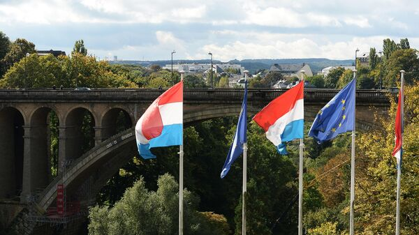 Вид на мост Адольфа в Люксембурге