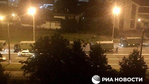 Высадка военных в центре Минска. 10.08.2020