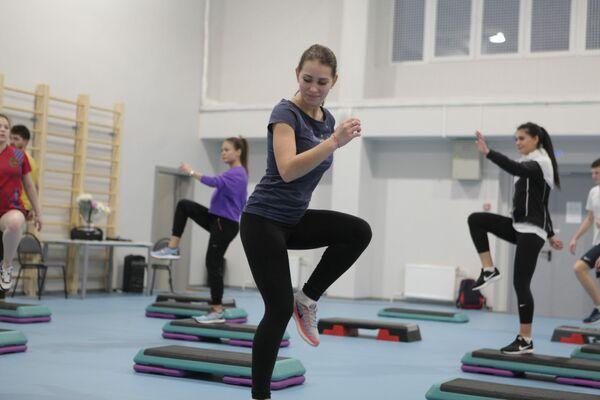 Мастер-класс по фитнесу в МГПУ