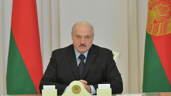 Президент Белоруссии Александр Лукашенко на совещании в Минске, 12 августа 2020