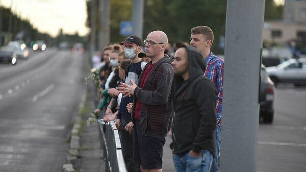 Акция протеста в Белоруссии