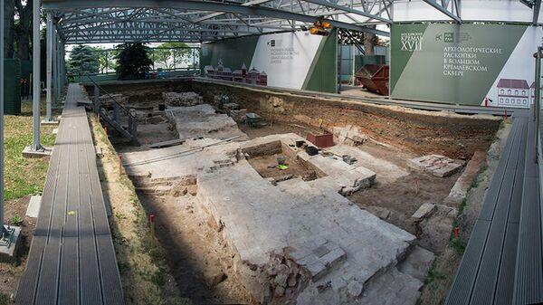 Археологические раскопки в Московском Кремле