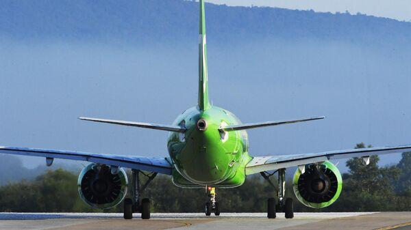 Пассажирский авиалайнер Airbus A320 авиакомпании S7 Airlines