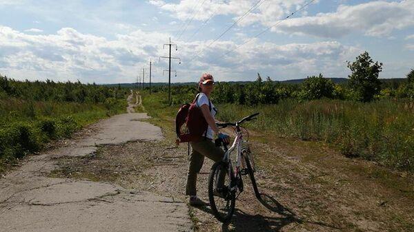 Марина Заблудовская на велопрогулке в Тольятти