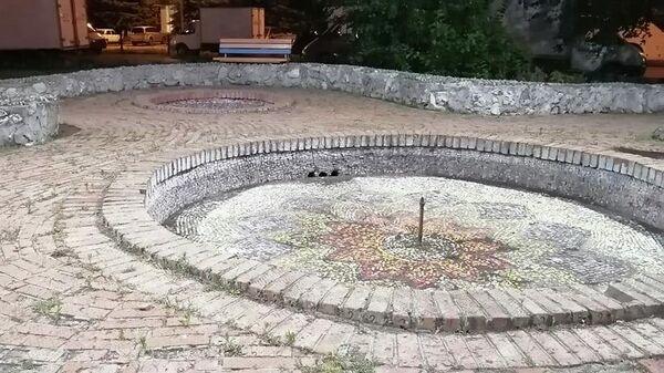 Чаша фонтана на Центральной площади перед ДК Тольятти
