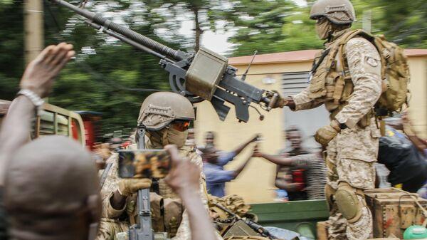 Военнослужащие в столице Мали Бамако. 18 августа 2020