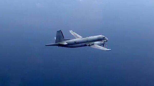 Самолет-разведчик НАТО, перехваченный над Черным морем. Скриншот видео