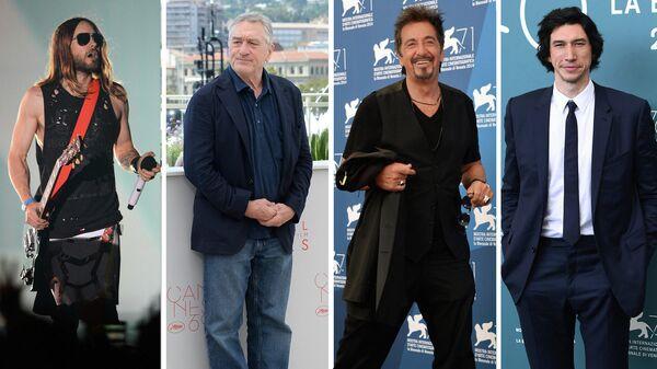 Американский рок-музыкант Джаред Лето, американский актер Роберт Де Ниро, американский актер Аль Пачино и американский актер Адам Драйвер