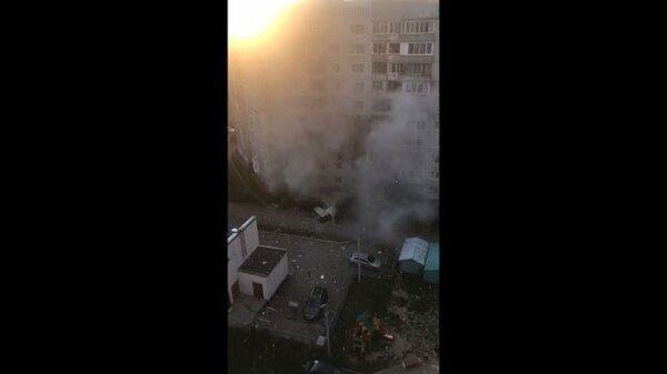Взрыв в жилом доме в Ярославле. Кадры с места ЧП
