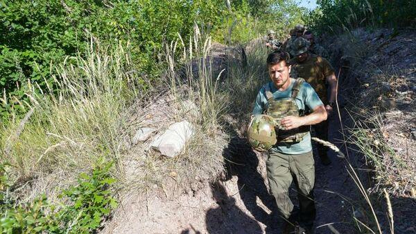 Рабочая поездка Президентов Украины Владимира Зеленского в Донецкую и Луганскую области