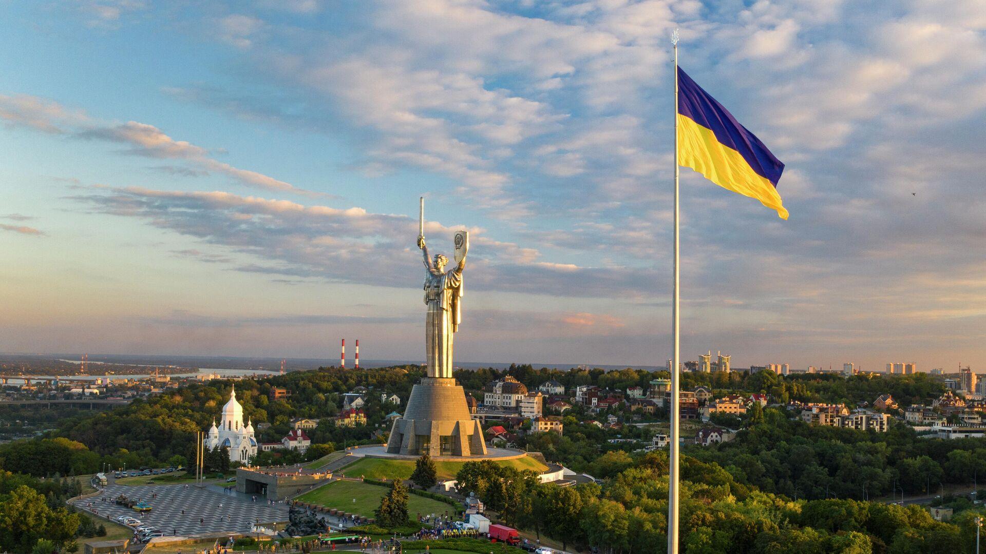 Самый большой флаг Украины в Киеве - РИА Новости, 1920, 17.07.2021