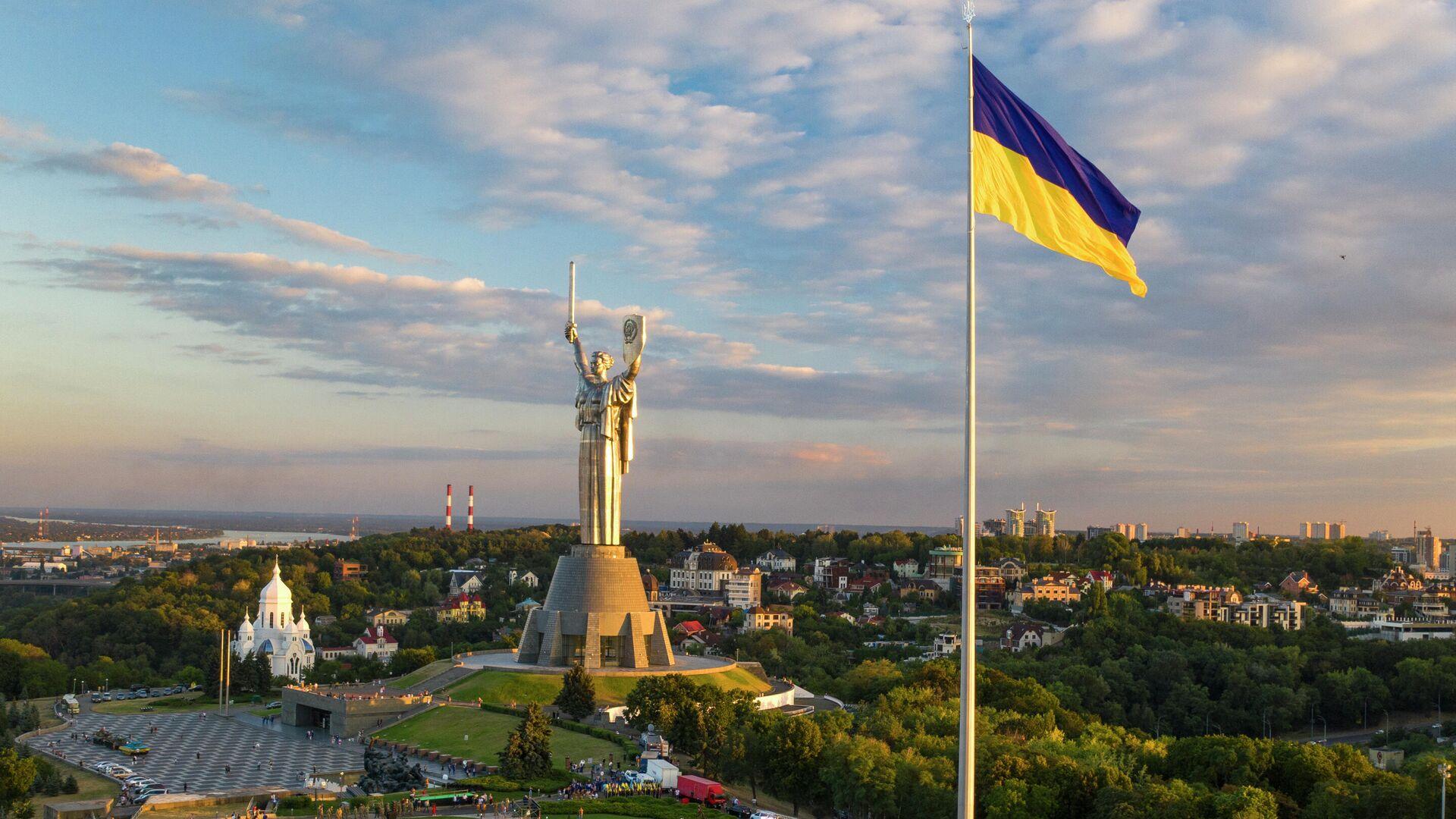Самый большой флаг Украины в Киеве - РИА Новости, 1920, 01.12.2020