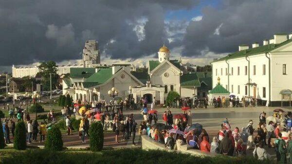 Представители оппозиции собрались на площади Свободы. Кадры из Минска
